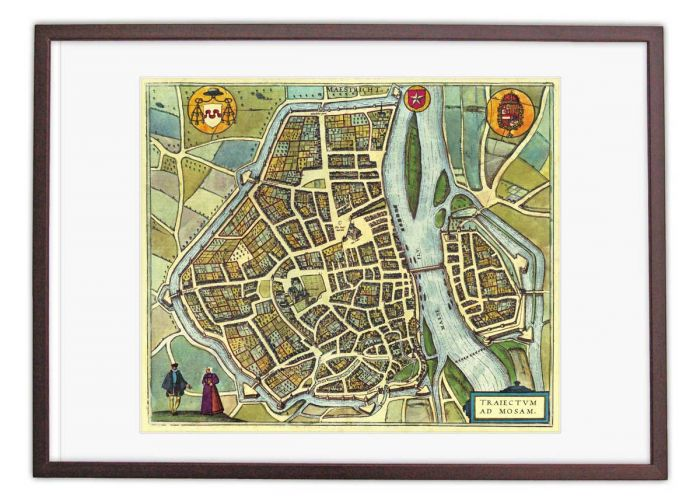 Oude kaart Maastricht - Trajectum ad Mosam in 1580