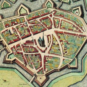 Doesburg - oude kaart Atlas De Wit