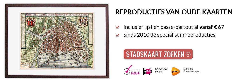 Oude kaarten van Nederlandse steden