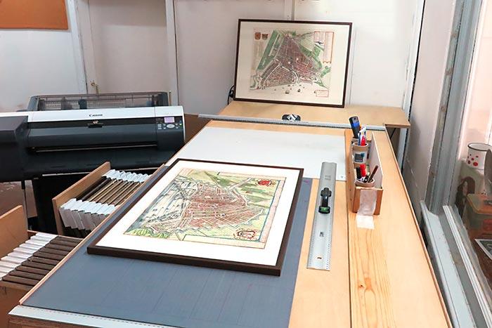 De productietafel van Historische Plattegrond